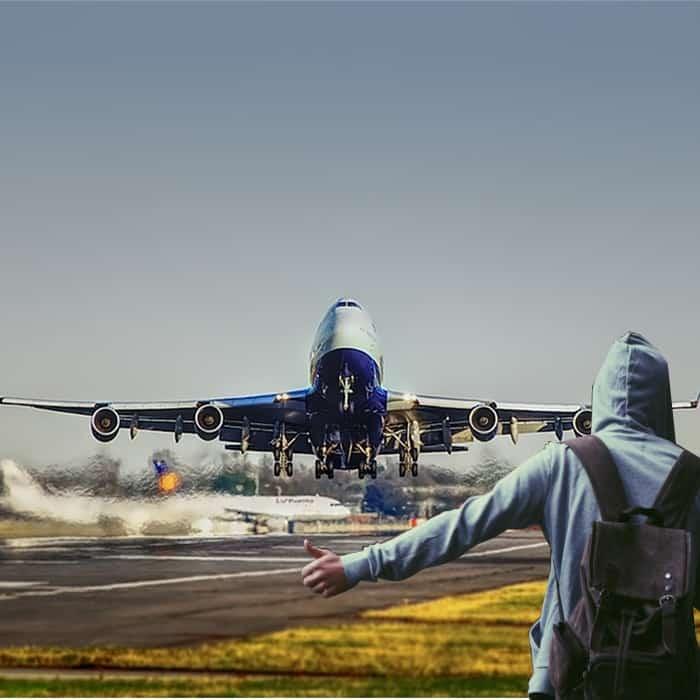 טרמפ עם מטוס