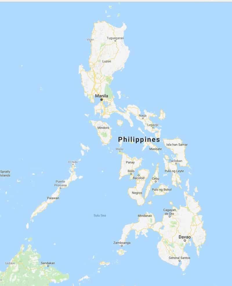 מפה של פיליפינים